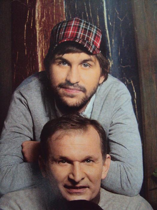 На фото: Иван Добронравов с отцом