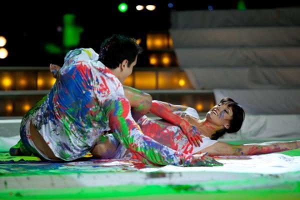 На фото: актер Александр Никитин и танцовщица Екатерина Тришина