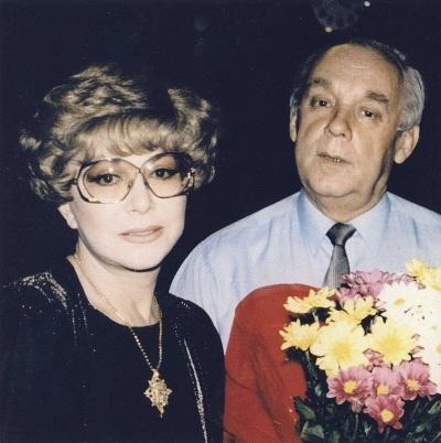 На фото: Эдита Пьеха и Владимир Поялков