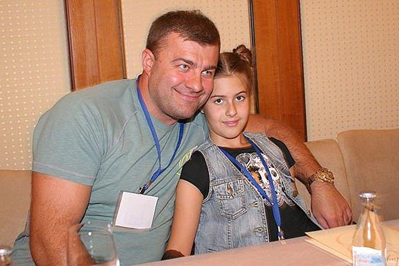 Михаил Пореченков с дочерью Варей