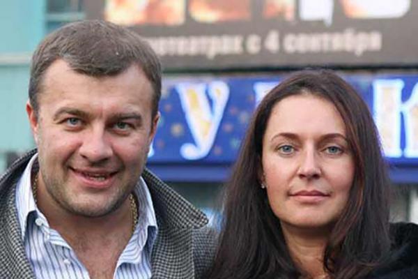 Михаил Пореченков и его жена Ольга
