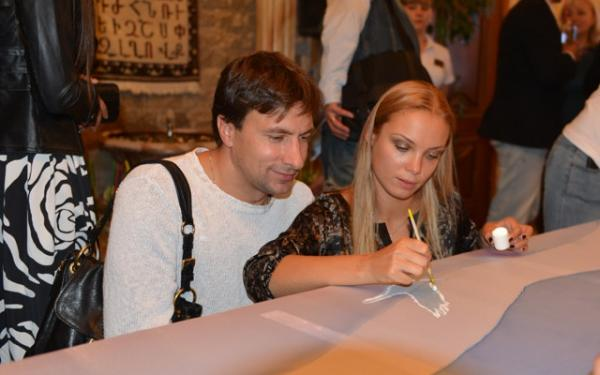 На фото: Татьяна Арнтгольц и Григорий Антипенко