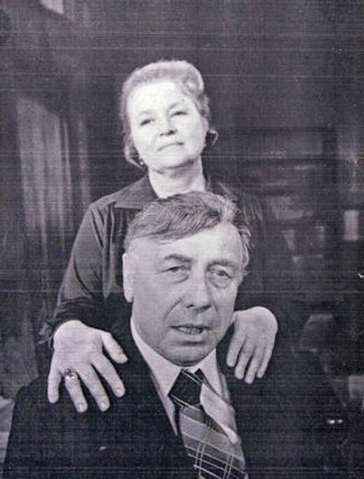 На фото: Надежда Каратаева с мужем