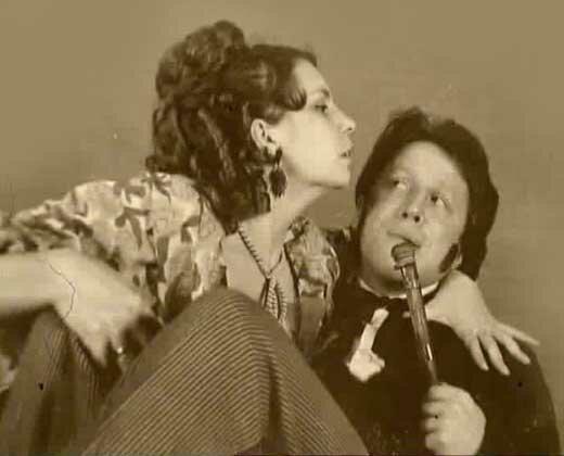 На фото: актер Владимир Стеклов и его перва жена Людмила Мощенская